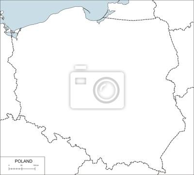 Naklejka Contour Mapa Polski Na Wymiar Europa Polska Granica