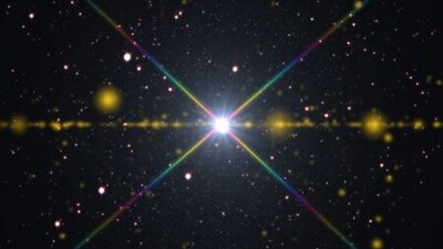 Naklejka cosmos stars light lens flare