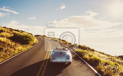 Naklejka Coupe Jazda na Country Road w stylu vintage Sports Car
