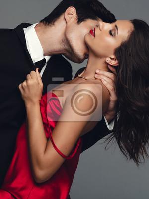 Naklejka Couple enjoying a sensual moment