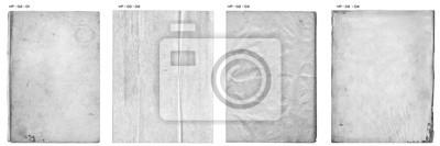 Naklejka Creased Paper Texture Pack vintage distressed blank pages