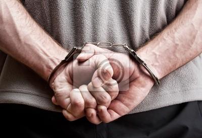 Naklejka Criminal w kajdankach