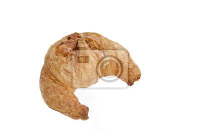 Croissant świeżego samodzielnie na białym tle