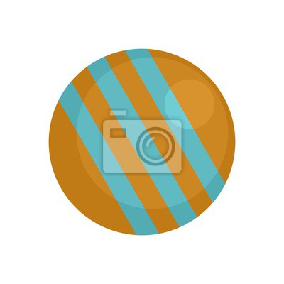 Croquet ball icon. Flat illustration of croquet ball vector icon for web design