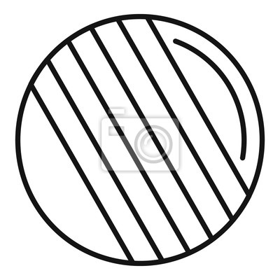 Croquet ball icon. Outline croquet ball vector icon for web design isolated on white background
