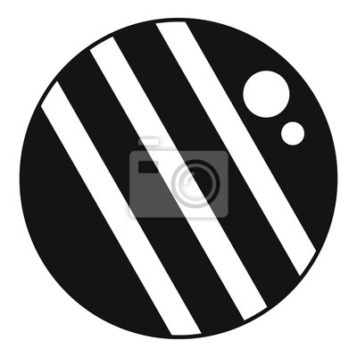Croquet ball icon. Simple illustration of croquet ball vector icon for web design isolated on white background
