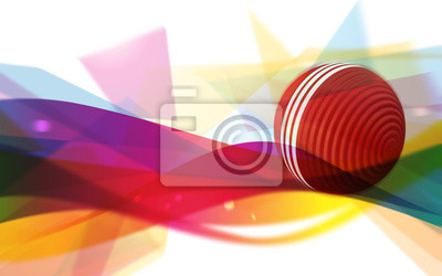 Croquet Ball On An Abstract Background