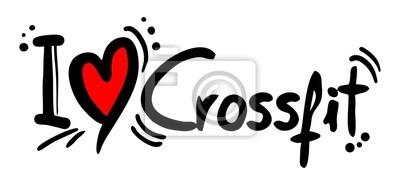 Naklejka Crossfit miłość