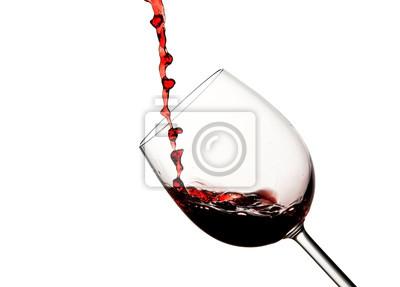 Crystal glass wina z odlewania czerwone wino