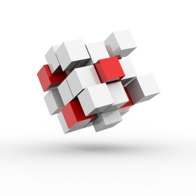 Naklejka Cube / Bloki / Praca / 3D