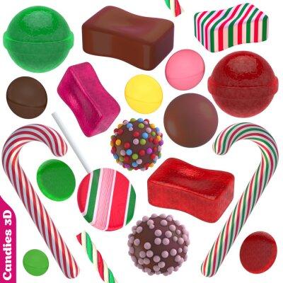 Naklejka Cukierki i słodycze 3d zestaw