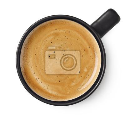 Naklejka Cup of black coffee