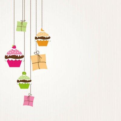 Naklejka Cupcakes und Geschenke Hangen am Pasmo