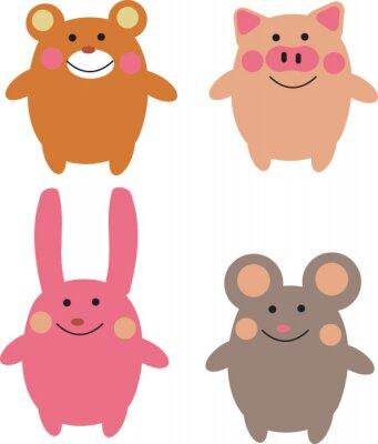 Naklejka Cute animals cartoon