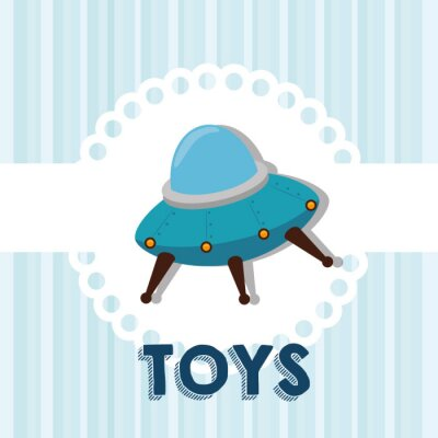 Naklejka Cute baby zabawki
