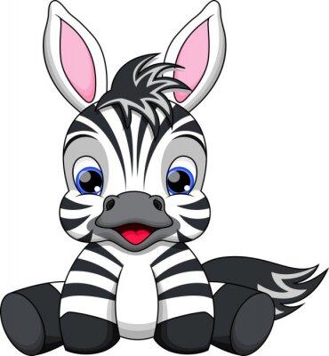 Naklejka cute baby zebra