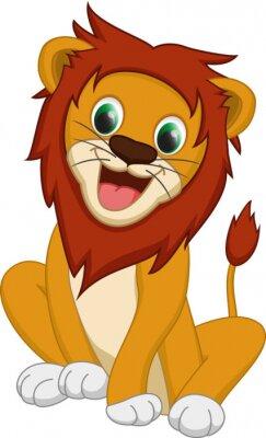 Naklejka Cute cartoon lew