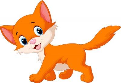 Naklejka Cute cat cartoon