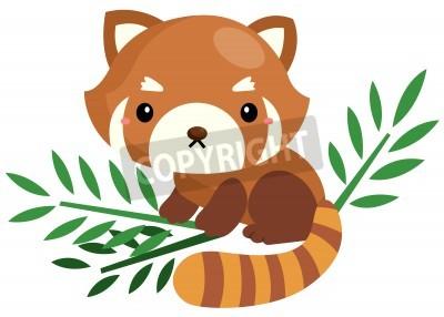 Naklejka Cute Czerwona Panda