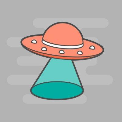 Naklejka cute unidentified flying object