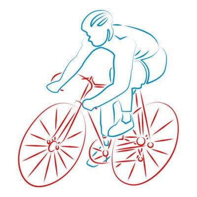 Naklejka Cyclisme