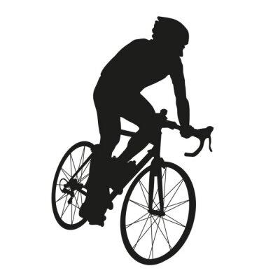Naklejka Cyclist silhouette