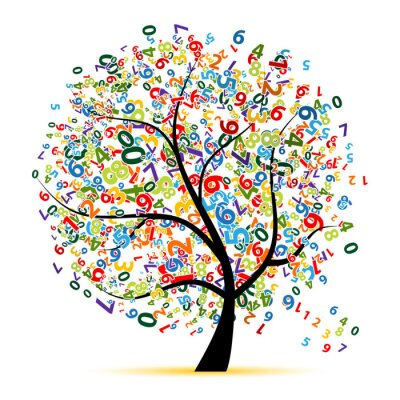 Naklejka Cyfrowe drzewa dla projektu