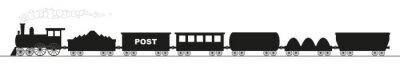 Naklejka czarna sylwetka lokomotywy z sześciu wagonów
