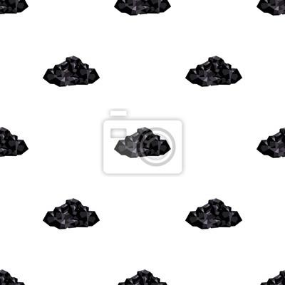 Naklejka Czarne kopaliny od kopalni. Kopalnia, który jest wydobywający w kopalni. Kopalnianego przemysłu pojedyncza ikona w kreskówka stylu symbolu zapasu wektorowej ilustraci.