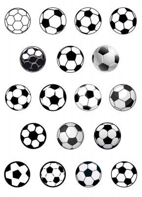 Naklejka Czarno-białe piłki nożnej lub piłki