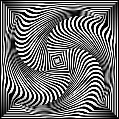Naklejka Czarno-białe tło Opt Art