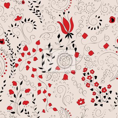 czarny i czerwony wzór