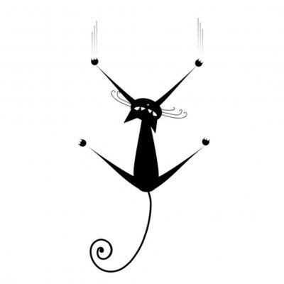 Naklejka Czarny kot sylweta dla twojego projektu