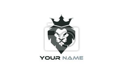 Naklejka czarny lew lew
