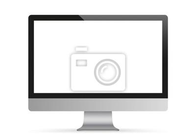 Naklejka Czarny monitor PC Mockup