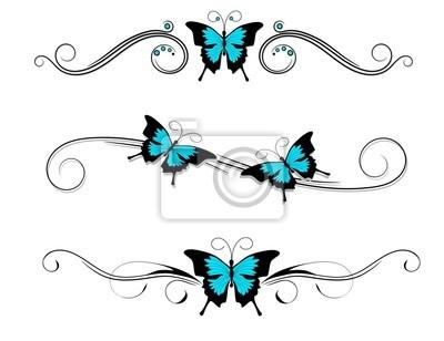Czarny Motyl Tatuaż Naklejki Redro