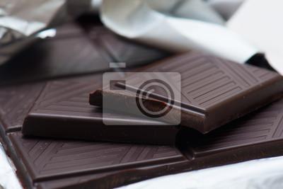 Naklejka czekolada ciemna