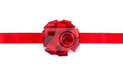 Naklejka Czerwona wstążka z kokardą