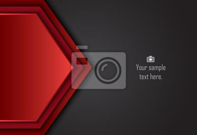 Czerwone i czarne abstrakcyjne warstwy geometryczne tło dla karty, roczne sprawozdanie biznesowe, plakat szablonu