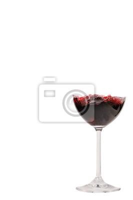 Naklejka czerwone wino w prawo