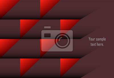 Czerwonej abstrakcjonistycznej warstwy geometryczny tło dla karty, roczny raport biznesowy, plakatowy szablon