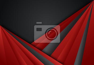 Czerwonej i Czarnej abstrakcjonistycznej warstwy geometryczny tło