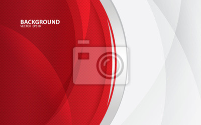 Naklejka Czerwony abstrakcjonistyczny backgrund wektor, nowożytny korporacyjny pojęcie.