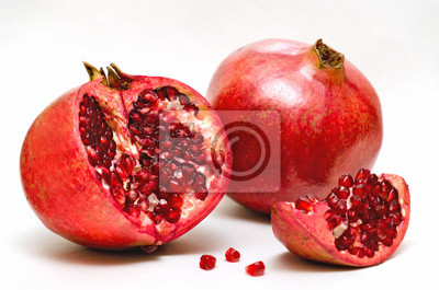 Naklejka Czerwony granat jabłko