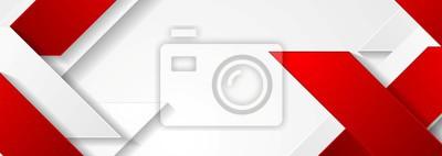 Naklejka Czerwony i biały wzór geometryczny korporacyjnych banerów