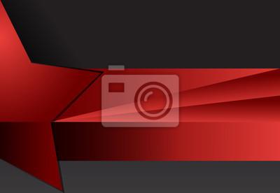 Czerwony i czarny abstrakcyjne tło geometryczne materiału projektowania