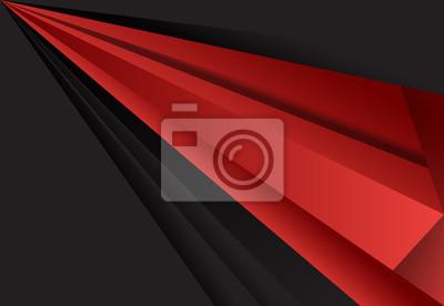 Czerwony i czarny abstrakcyjne warstwy geometryczne tło projektu materiału