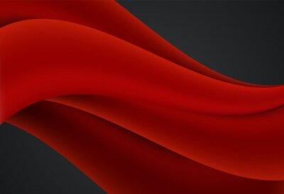 Czerwony i czarny abstrakta krzywa i falisty tło