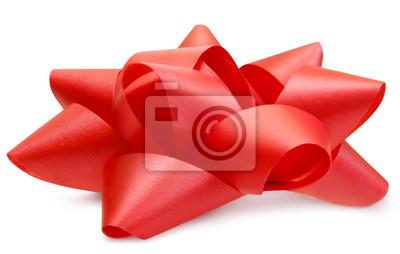 Naklejka Czerwony luksusowy boczny widok odizolowywający z ścieżką