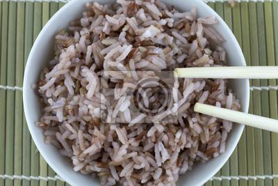 Naklejka Czerwony ryż i chopstick